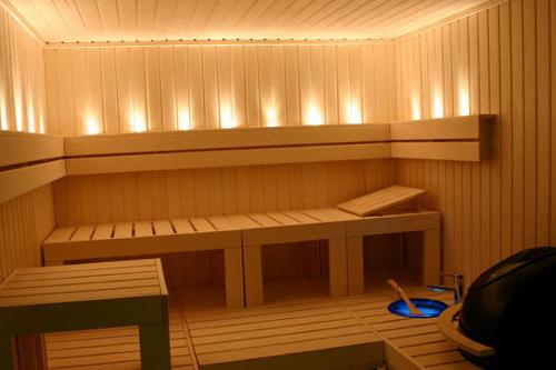 Как создать освещение в бане своими руками