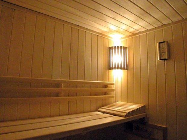 Процесс установки освещения в бане своими руками