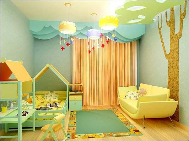 Один из вариантов оформления комнаты для дошкольника