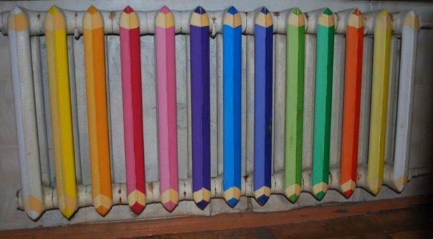 Батарея карандашей